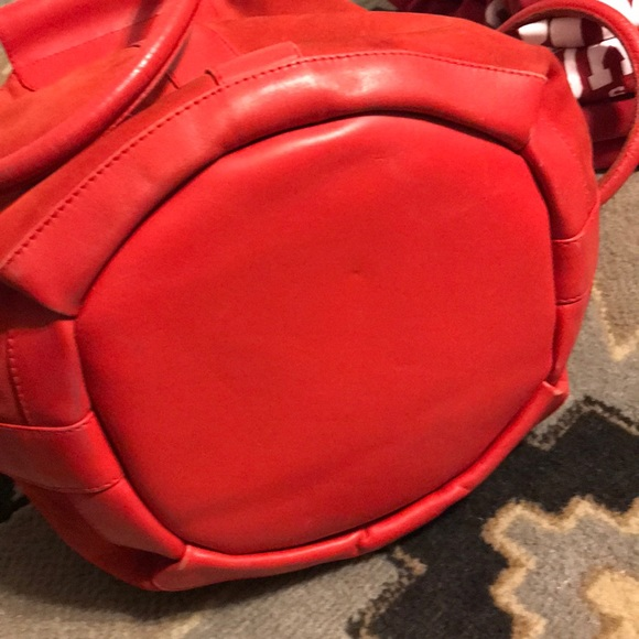 Gucci Handbags - 80s Vintage RARE GUCCI Suede Leather Red Bucket #1